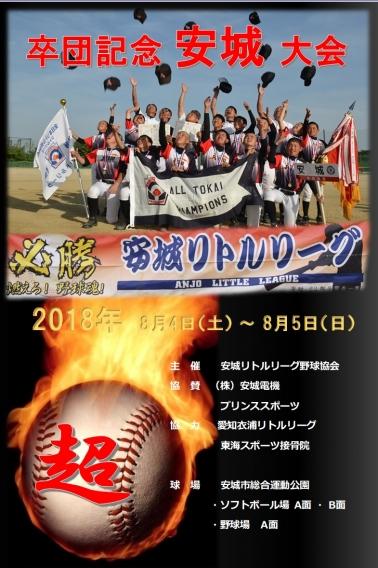 8月4日~5日 卒団記念安城大会開催